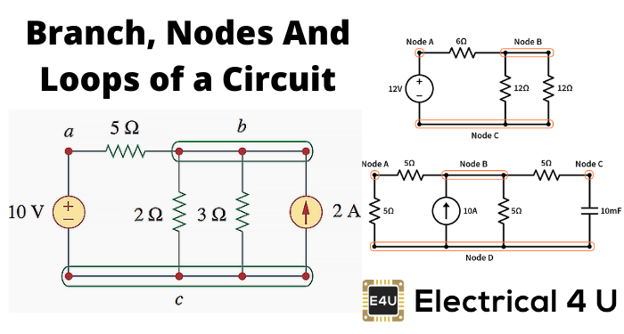 Branch, Nodes And Loops Of A Circuit