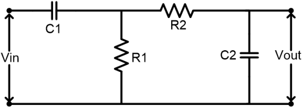 Circuit Diagram of Passive Band Pass Filter