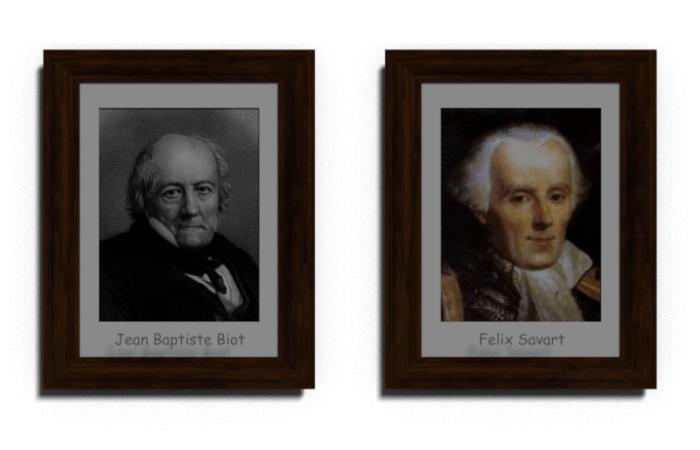 Jean BaptisteBiot and Felix Savart