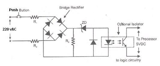 PLC input module circuit diagram