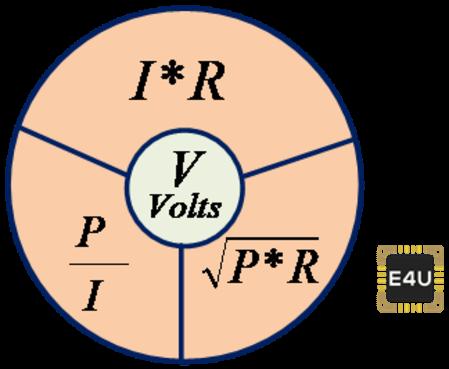 voltage formula triangle
