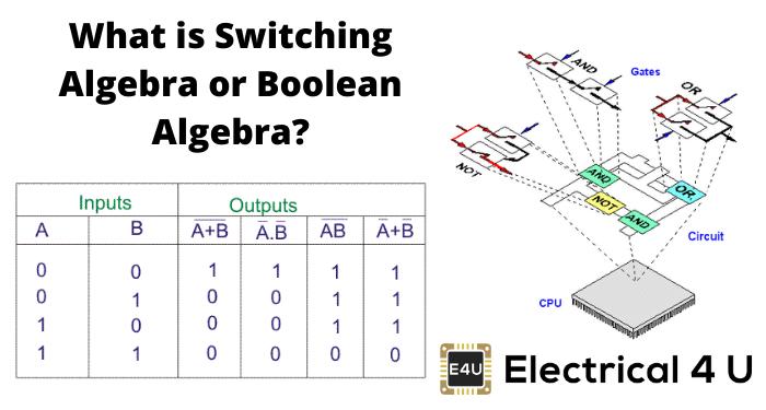 What Is Switching Algebra Or Boolean Algebra