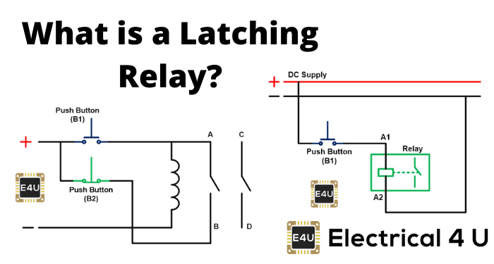Latching Relay What Is It Circuit, Latching Relay Wiring Diagram