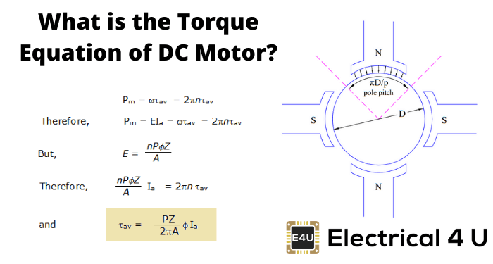 What Is The Torque Equation Of Dc Motor